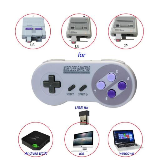 Mando Inalambrico USB Super Nintendo Mini SNES Raspberry PC Android