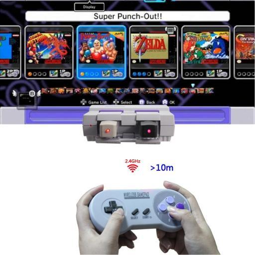 Mando Inalambrico USB Super Nintendo Mini SNES Raspberry PC Android [3]