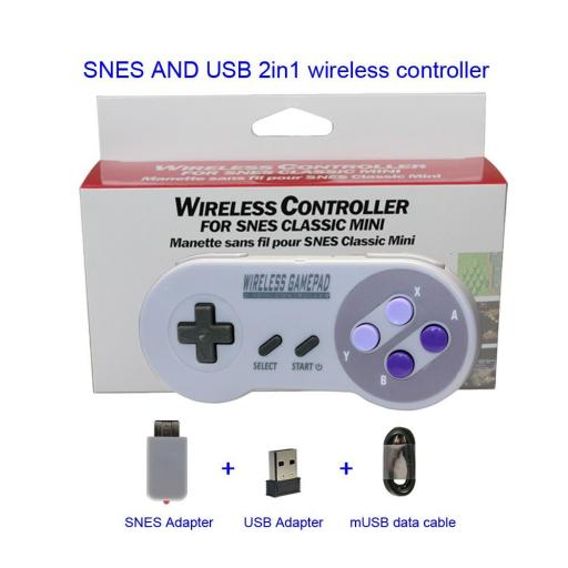 Mando Inalambrico USB Super Nintendo Mini SNES Raspberry PC Android [2]