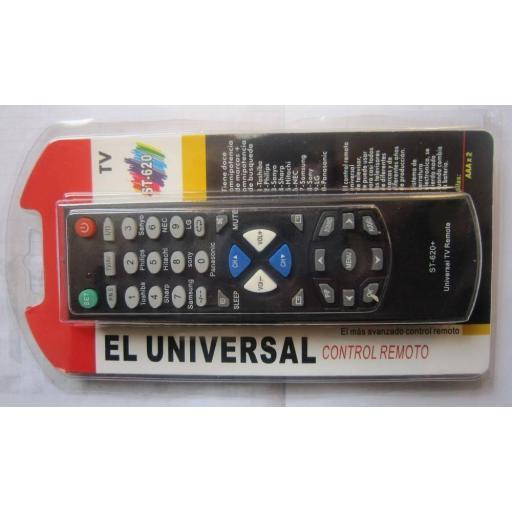 Mando universal de TV ST-620 p/ Toshiba Hitachi Samsung LG y Otros [1]