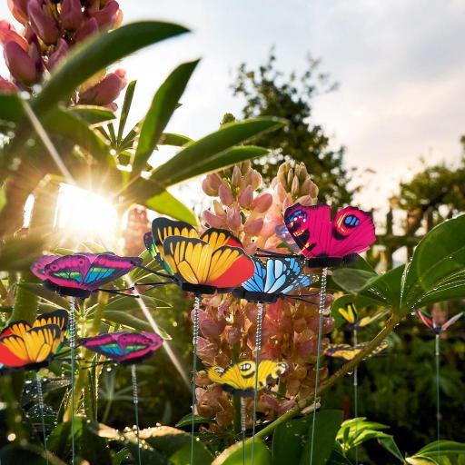 Mariposas para Decorar Macetas Ramo Coloridas Jardín al Aire Libre [1]