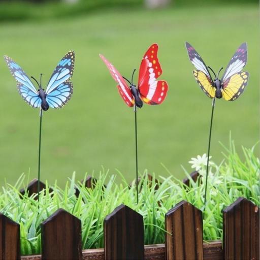 Mariposas para Decorar Macetas Ramo Coloridas Jardín al Aire Libre [2]