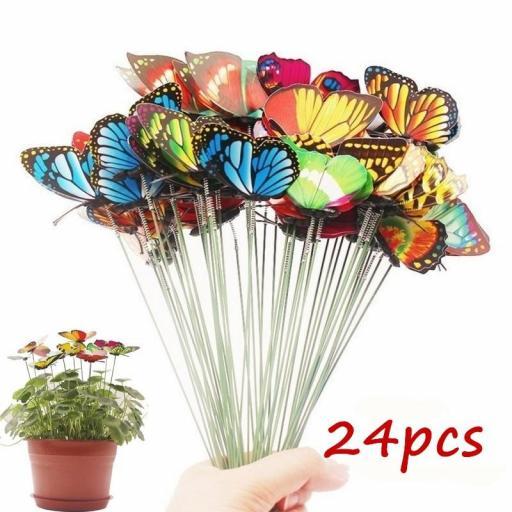 Mariposas para Decorar Macetas Ramo Coloridas Jardín al Aire Libre