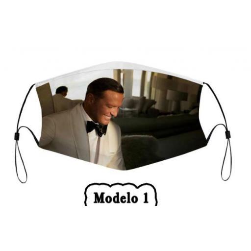 Mascarilla protectora de Luis Miguel con filtro