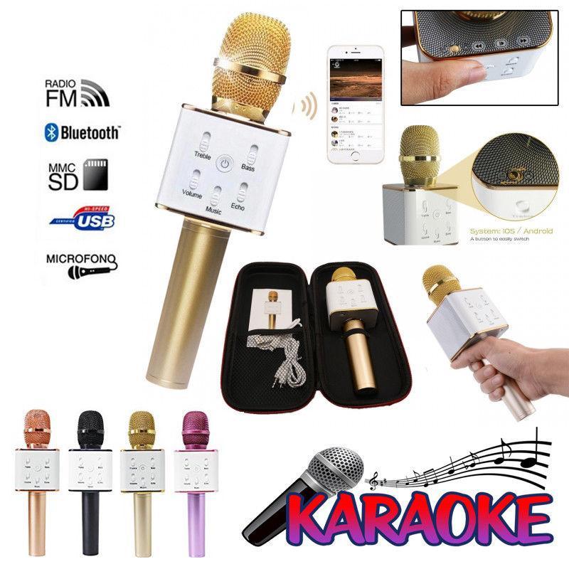 Micrófono Karaoke Inalámbrico Bluetooth Manos Libres
