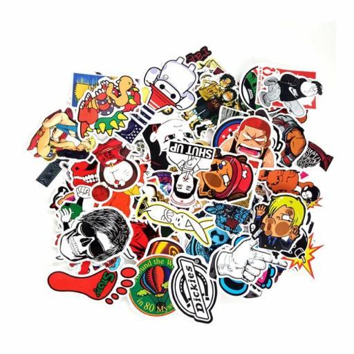 Pack de 100 Stickers Pegatinas Heroes / Juegos / Series Variados [1]