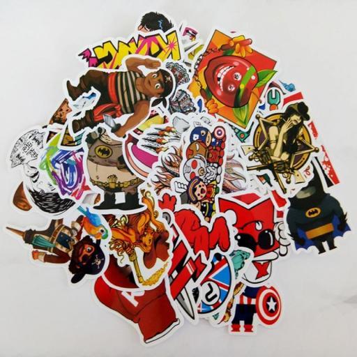 Pack de 100 Stickers Pegatinas Heroes / Juegos / Series Variados [2]
