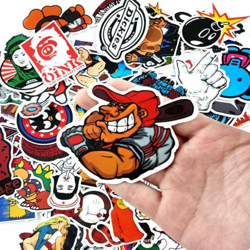 Pack de 100 Stickers Pegatinas Heroes / Juegos / Series Variados