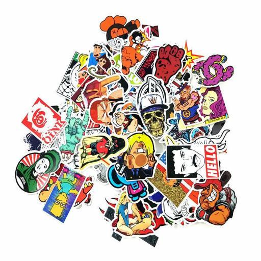 Pack de 100 Stickers Pegatinas Heroes / Juegos / Series Variados [3]