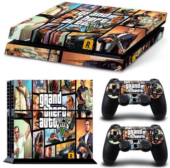 Pegatina GTA 5 Playstation 4 / PS4 / Play 4 Grand Theft Auto V