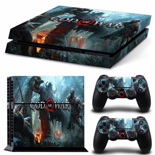 Pegatina God Of War Playstation 4 / PS4 / Play 4 Piel Vinilo