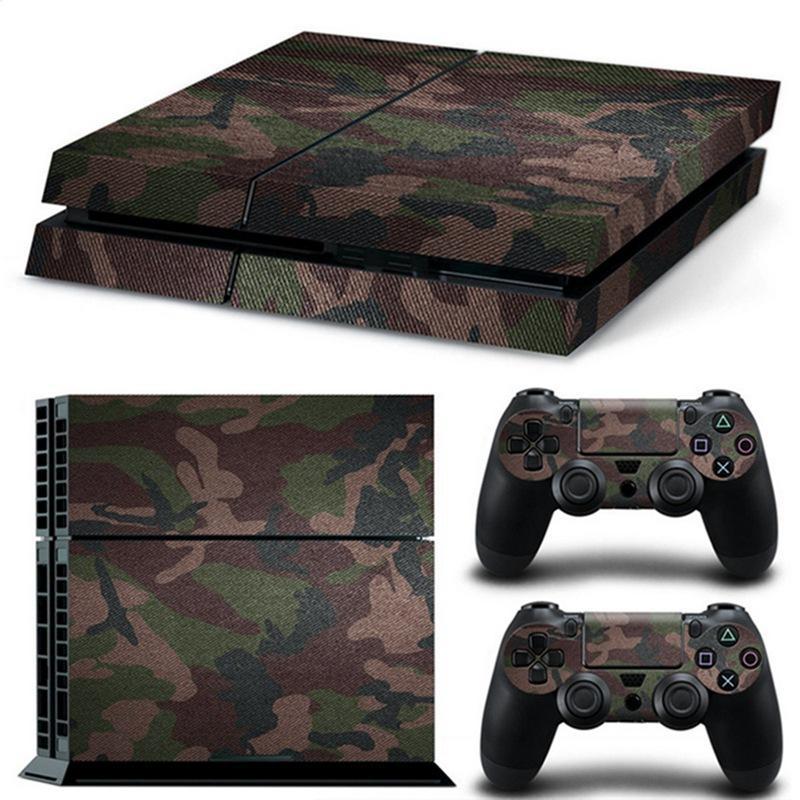 Pegatina Vinilo Para Playstation 4 / PS4 / Play 4 De Camuflaje