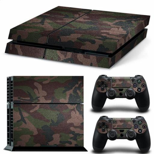 Pegatina Vinilo Para Playstation 4 / PS4 / Play 4 De Camuflaje