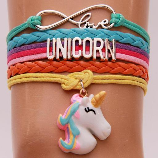 Pulsera Unicornio (Unicorn) Brazalete Cuerda Unisex Horse