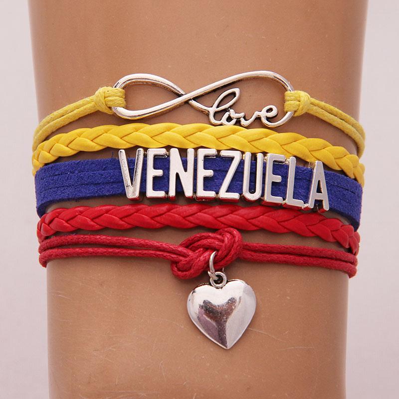 Pulsera Venezuela Love Corazón Brazalete Cuerda Unisex