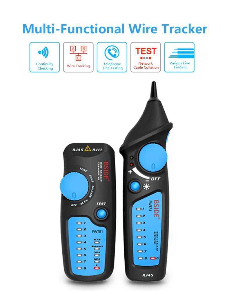 Rastreador de Cable Telefónico Red / LAN / Ethernet Buscador FWT81
