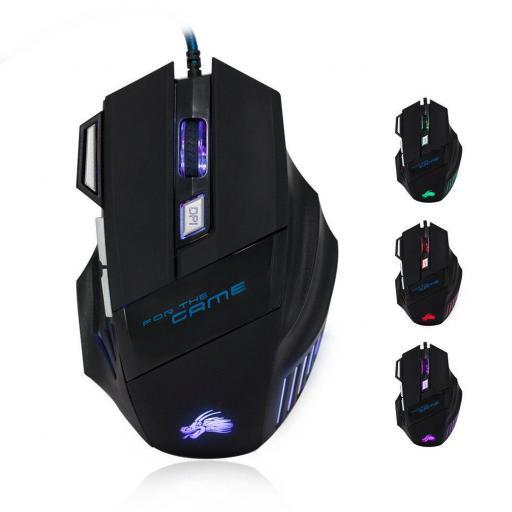 Ratón Gamer de 7 Botones con LED óptico Laser USB 5500DPI Mouse [2]