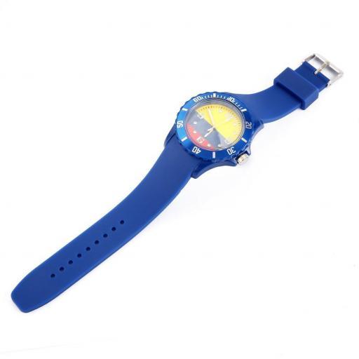 Reloj Bandera de Colombia Azul Casual Unisex Pulsera Silicona [1]
