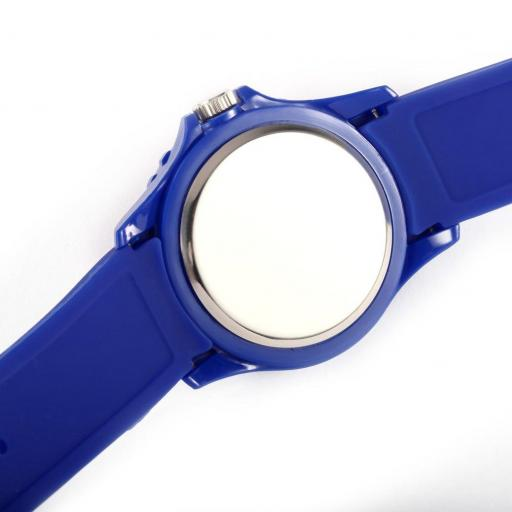 Reloj Bandera de Colombia Azul Casual Unisex Pulsera Silicona [2]