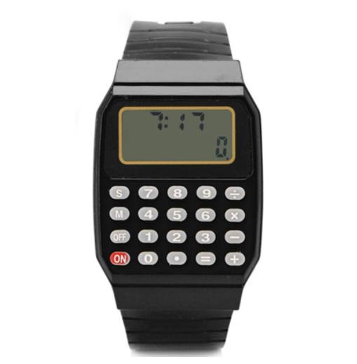 Reloj Calculadora de los años 80 de silicona | Retro