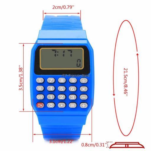 Reloj Calculadora de los años 80 de silicona | Retro [1]