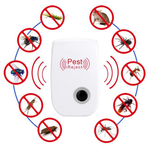Repelente  Electrónico Ultrasonico de Insectos Cucarachas Mosquitos