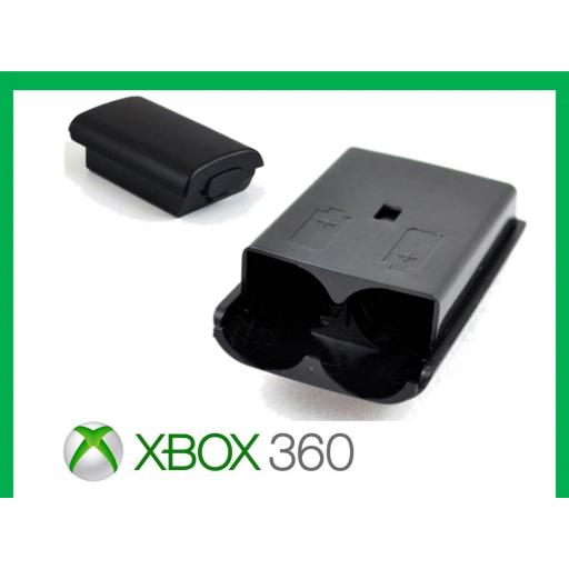 Tapa De Mando Xbox 360 Bateria Pilas Negro / Blanco