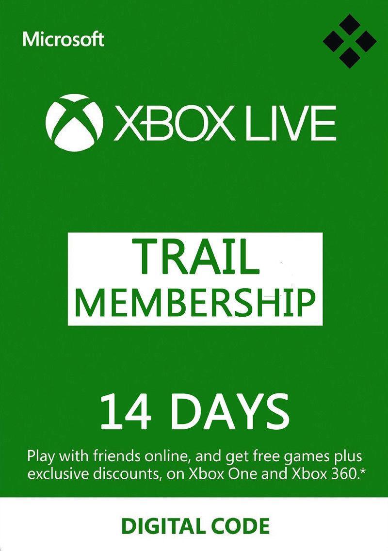 Tarjeta Código Xbox Live Gold + Game Pass 14 Dias Xbox 360 / One