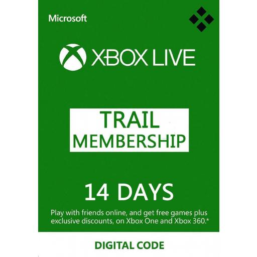 Tarjeta Código Xbox Live Gold + Game Pass 14 Dias Xbox 360 / One [0]