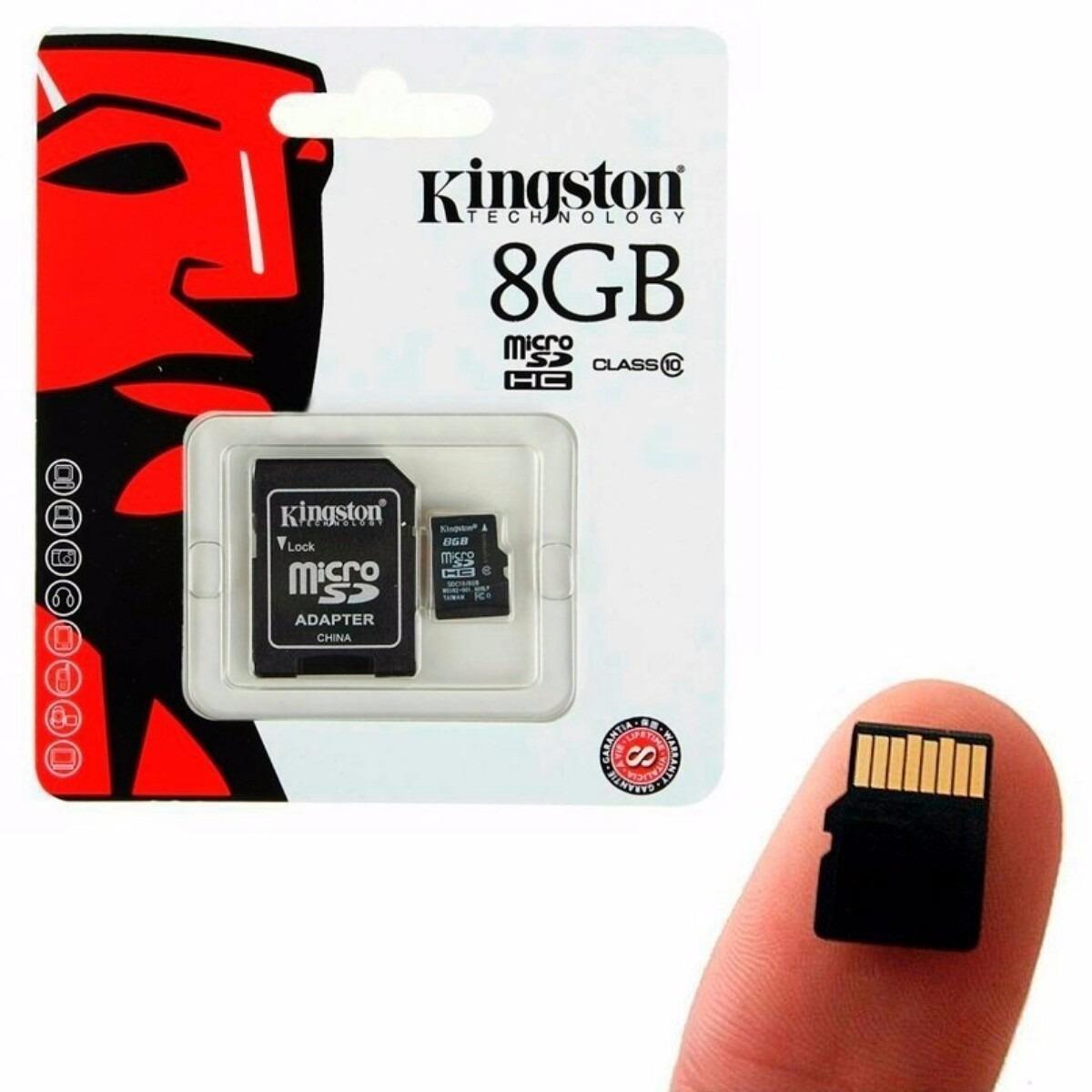 Tarjeta de Memoria de 8GB Micro SD HC Original Kingston
