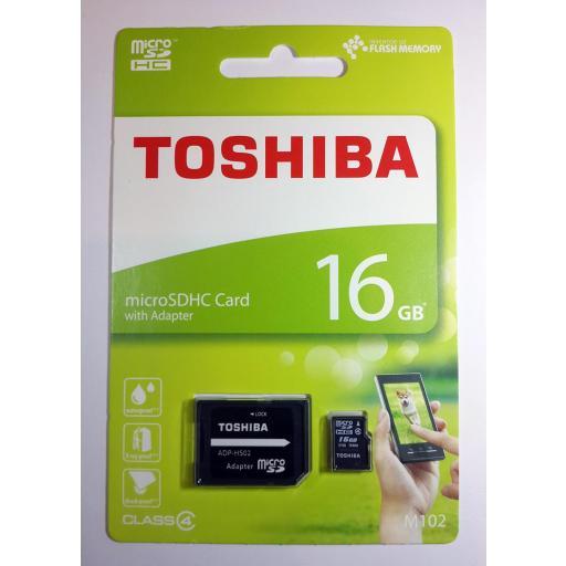 Tarjeta de Memoria de 16GB MicroSDHC Original Toshiba [1]