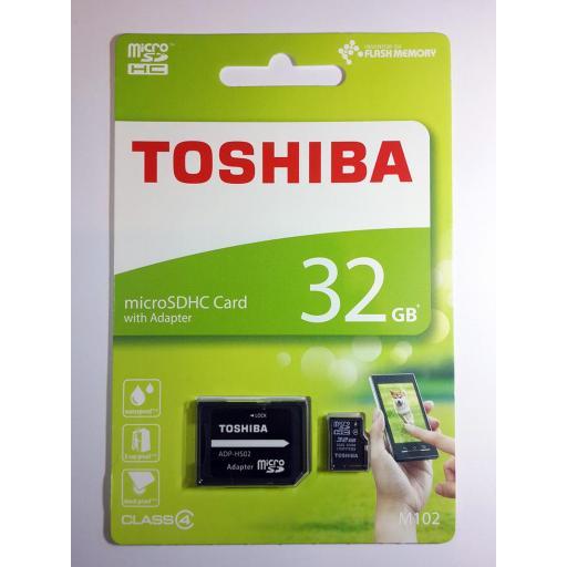Tarjeta de Memoria de 32GB MicroSDHC Original Toshiba [1]