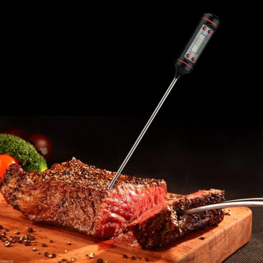 Termometro Digital De Cocina Acero Alimentos Comida Liquidos 300ºc [3]