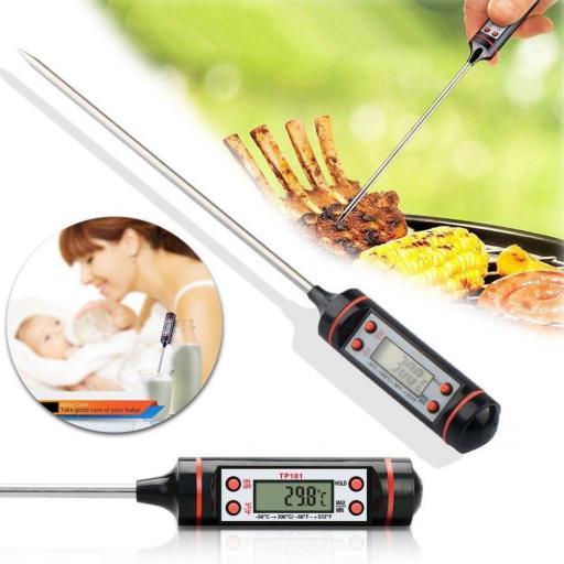 Termometro Digital De Cocina Acero Alimentos Comida Liquidos 300ºc [2]
