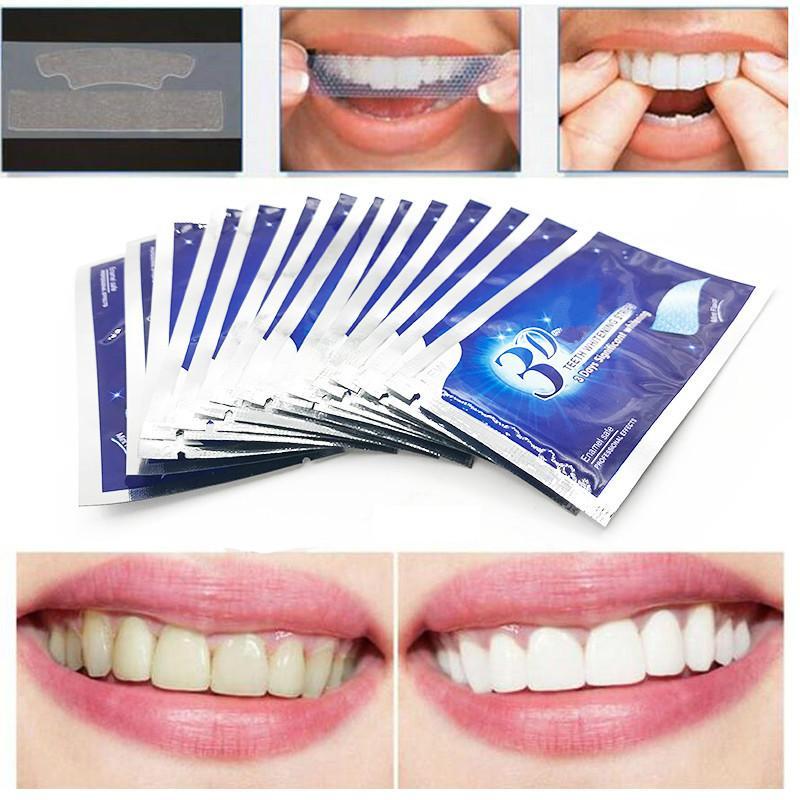 Tiras Blanqueadoras de dientes 3D White   dental dientes