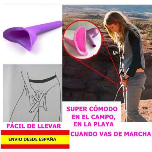 Urinario De Mujeres Portable Silicona Camping Viaje Femenino [2]