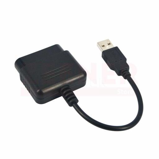 Adaptador Mando PlayStation a USB - Conversor PS1 PS2 - PC PS3 [1]