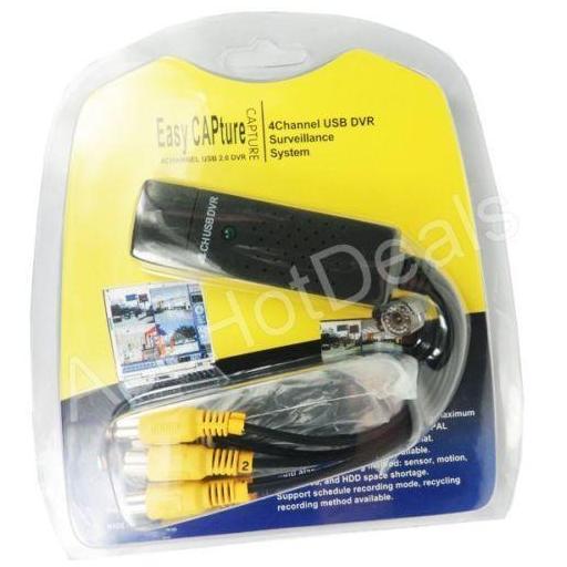 Tarjeta de captura de vídeo USB 2.0 de 4 canales a VHS a adaptador de captura