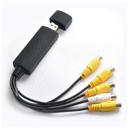 Tarjeta de captura de vídeo USB 2.0 de 4 canales a VHS a adaptador de captura [1]