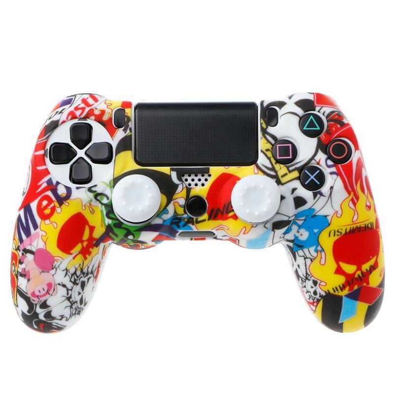 Funda de Mando Playstation 4 PS4 Sticker Bomb de Silicona
