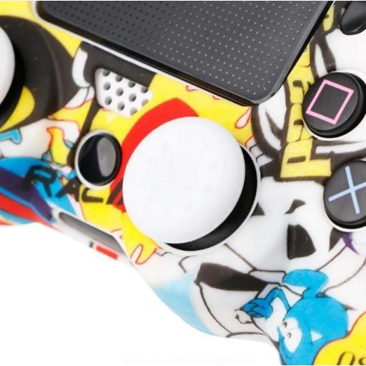 Funda de Mando Playstation 4 PS4 Sticker Bomb de Silicona [1]
