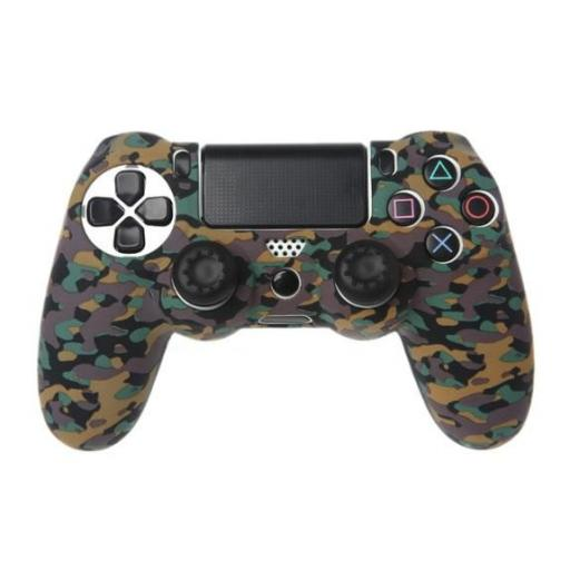 Funda de Mando Playstation 4 PS4 Guerra (Camuflaje) de Silicona