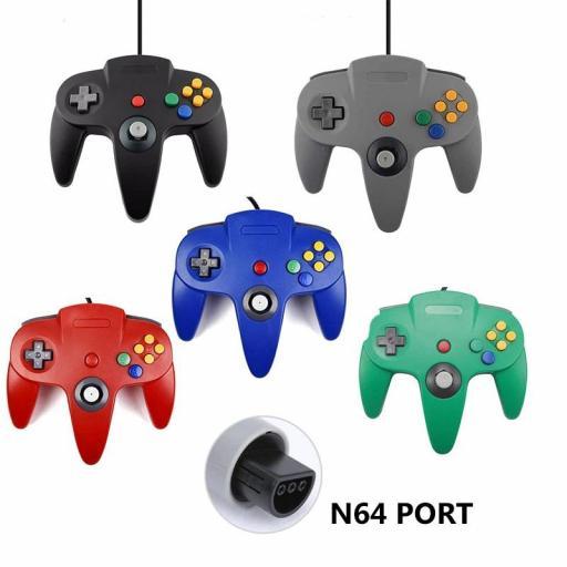 Mando para Nintendo 64 N64 Joystick - Gris Rojo Azul Negro [1]