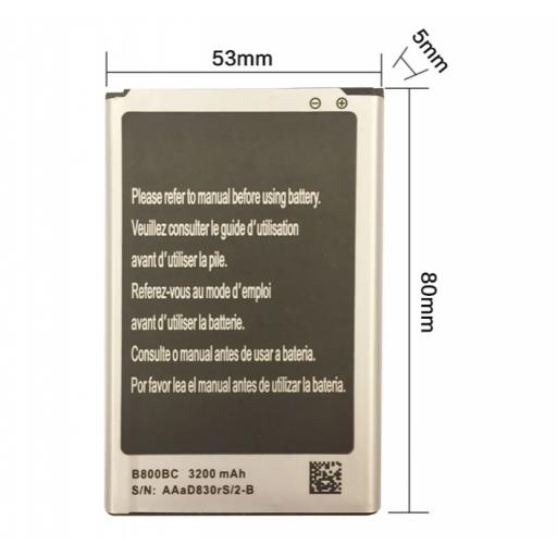 Batería De Samsung Galaxy Note 3 de 3200 mAh [2]