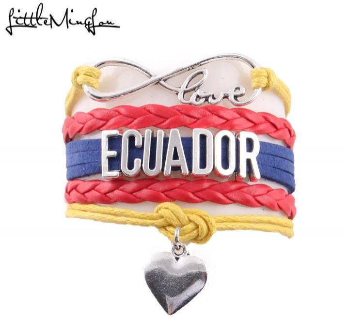 Pulsera de Ecuador Corazón Amor Hombres y Mujeres