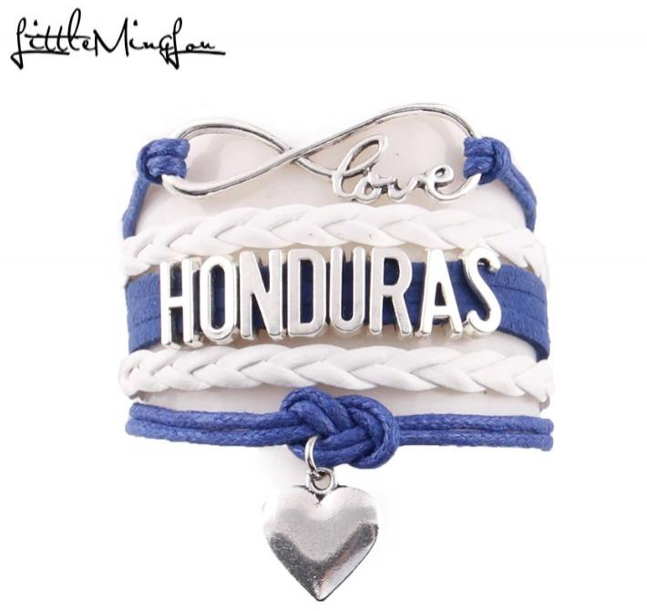 Pulsera Honduras Love Corazón Cuerda Hombre y Mujer