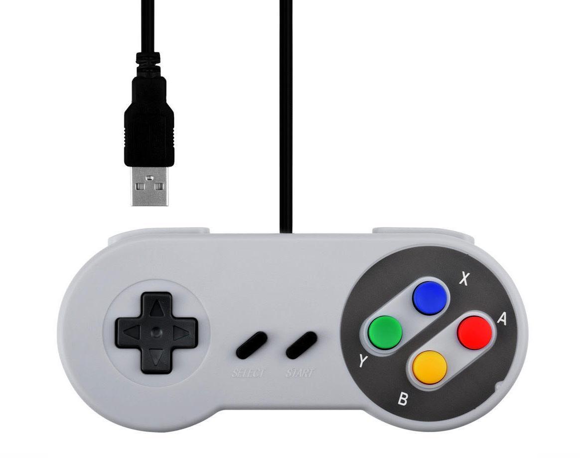 Mando USB Estilo Super Nintendo Clasico SNES Super Nes