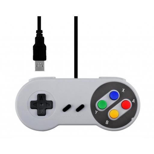 Mando USB Estilo Super Nintendo Clasico SNES Super Nes [0]