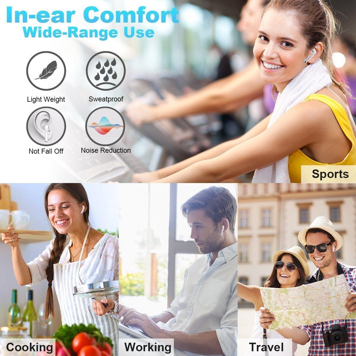 comprar Auriculares inalámbricos Bluetooth 4.2 Microfono Universal i7