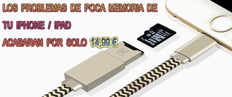 Cable Adaptador Lector de Tarjetas SD Para Iphone  Ipad (Lightning) 2.png